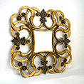 Christopher Guy Hand Carved Wooden Gold Leaf Mirror