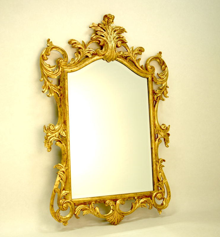 Christopher guy gold frame hand carved mirror christopher for Gold frame floor mirror