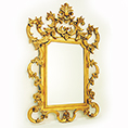 Christopher Guy hand carved all over Gold Leaf Mirror