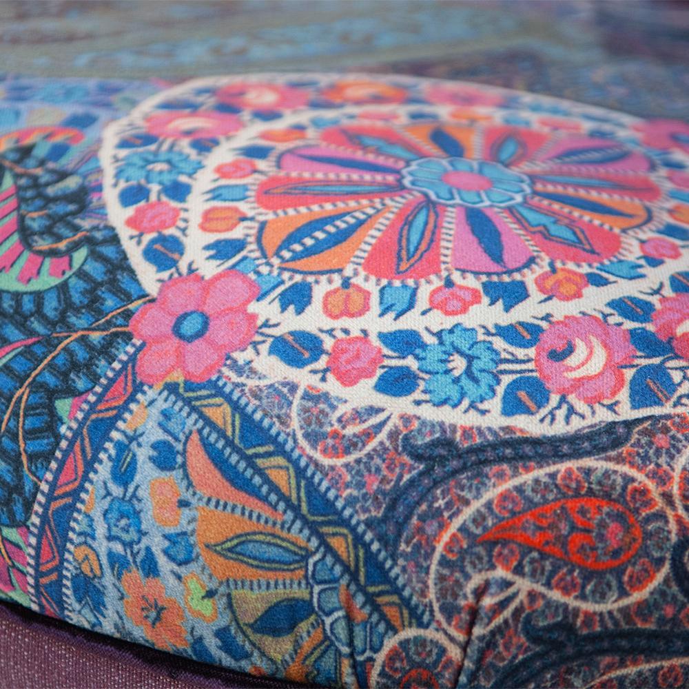 John Sankey Ferdinand Chair In Linen And Floral Velvet