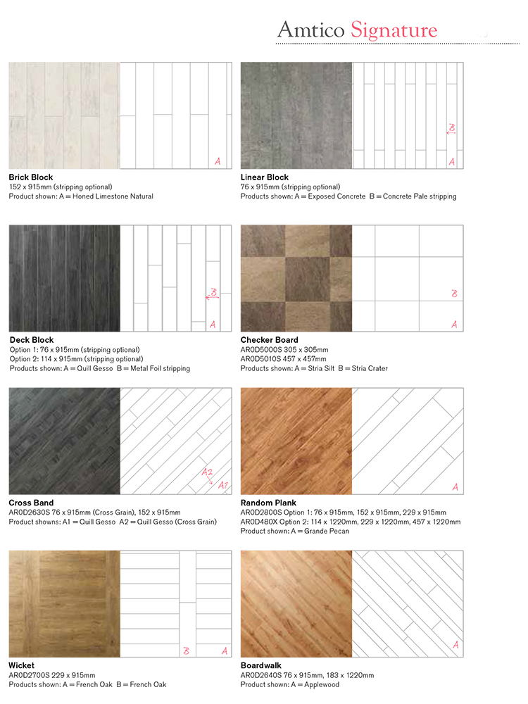 Amtico Signature Laying Patterns 2