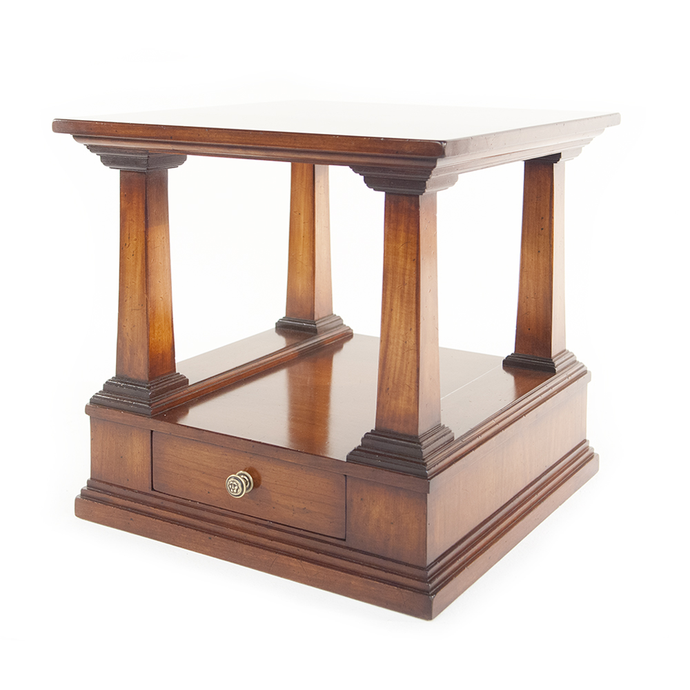 REH Kennedy Classic Lamp Table With Drawer In Cherry Wood