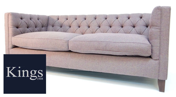 Contrast Upholstery Battersea Midi Sofa In Fabric Or Leather