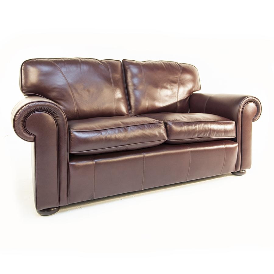 wade upholstery berrington large leather sofa
