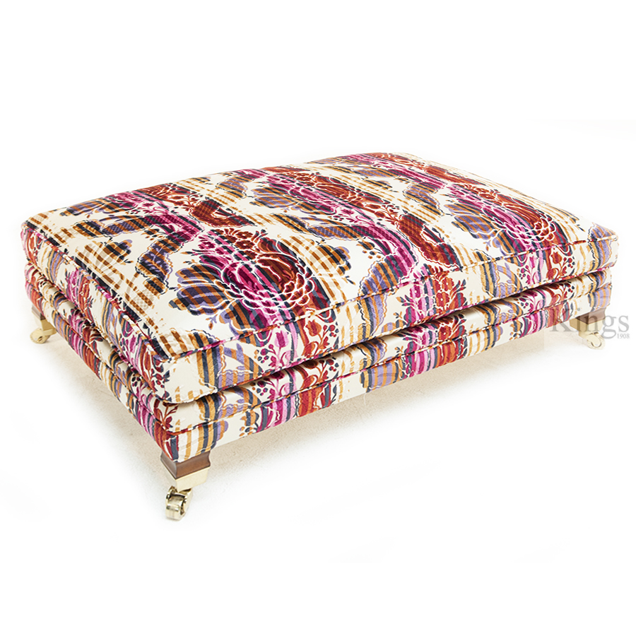 Duresta Hornblower 3 Seater With Stool In Bancroft Faberge