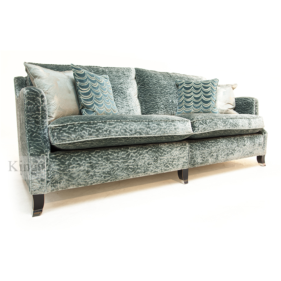 Duresta Amelia Grand Sofa Beaumont Aquamarine SOLD