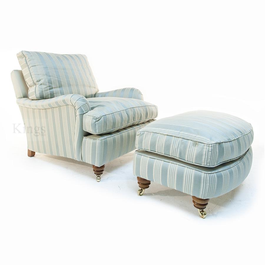 Duresta Lansdowne 2 Seater Sofa Chair And Run Up Stool