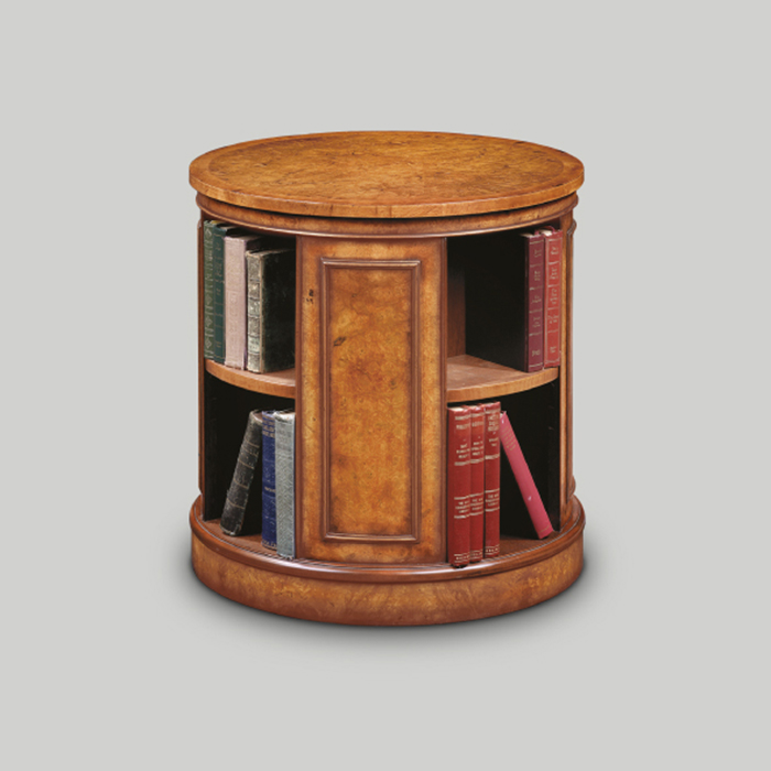 Iain James Furniture AMC235 Walnut Circular Revolving Bookcase