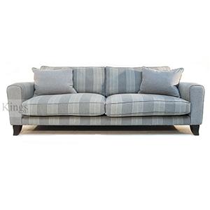 John Sankey Voltaire King Sofa in Cooper Silver Stripe
