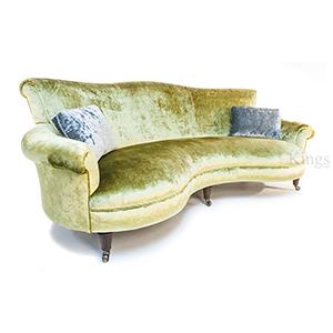 John Sankey Matilda Sofa In Citrine Velvet Fabric Sold