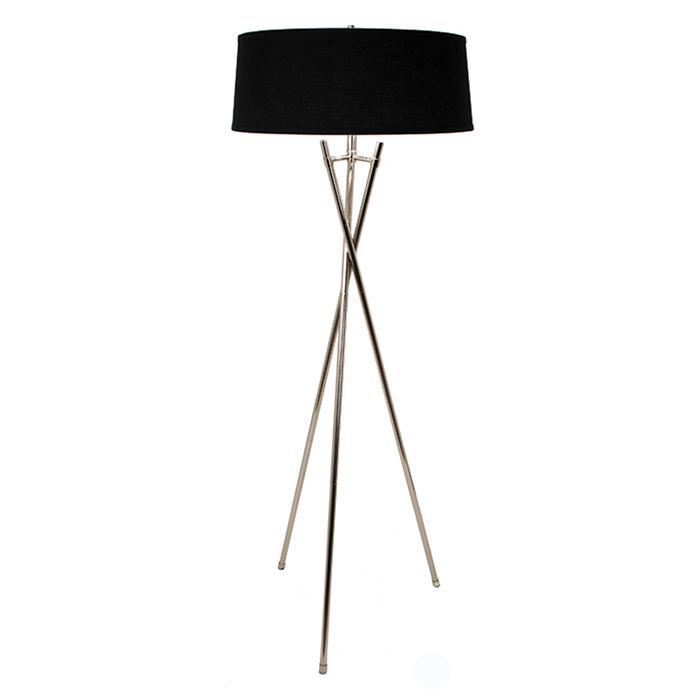 RV Astley Arlo Tripod Floor Lamp Chrome Black 5464