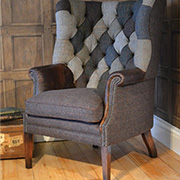 Tetrad Upholstery Mackensie Harris Tweed Chair Patchwork