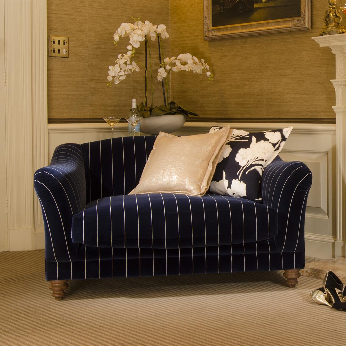 Ralph Lauren Living Room Furniture Tetrad Upholstery Gatsby Snuggler In Ralph Lauren Signature Fabrics