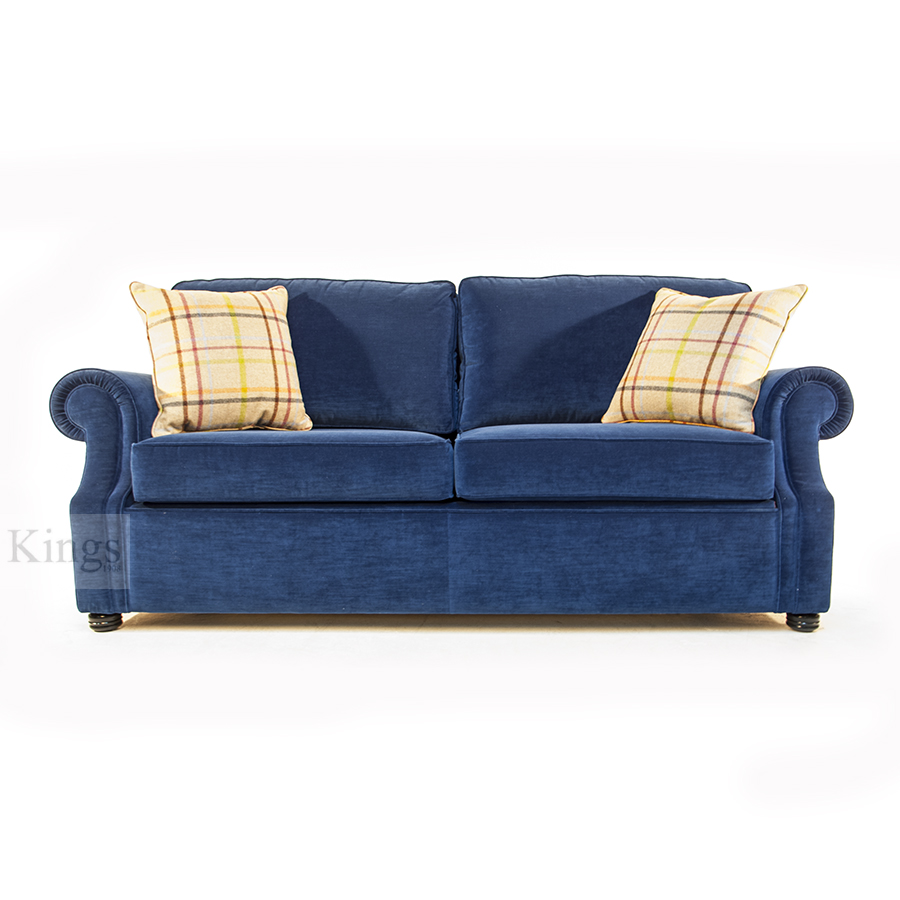 Wade Upholstery Canterbury Sofa Bed In Indigo Blue Velvet