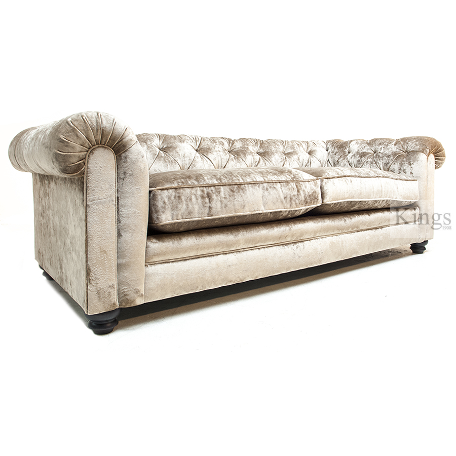 Wade Upholstery Brighton Chesterfield Sofa In Champagne Velvet Sold