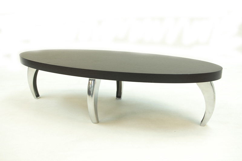 Black and chrome coffee table Black and chrome coffee table