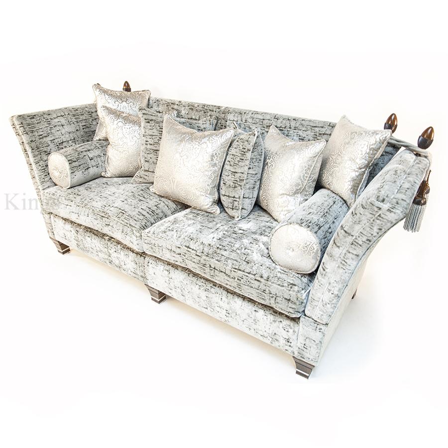 David Gundry Large Madrid Knole Sofa In Silver