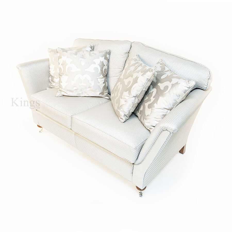 Two Duresta Ruskin Sofas In Luxurious Silver Fabric SOLD