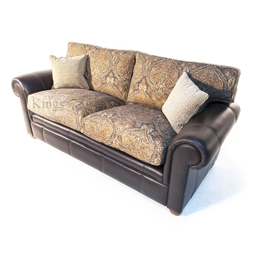 Wade Upholstery Barnaby In Leather And Fabric