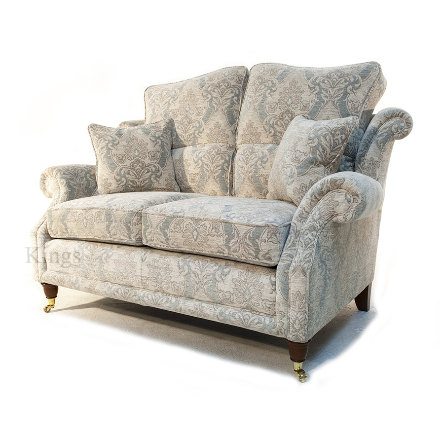 Wade upholstery hollinwell small sofa and chair in floral for Small settee