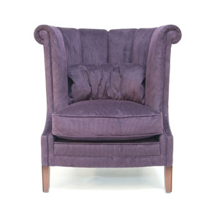 Parker And Farr Macintosh Chair Purple Stripe