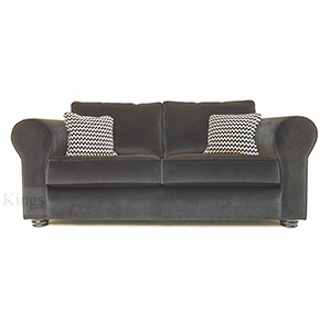 Collins and Hayes Angelo Large and Medium Sofas in Black Velvet3