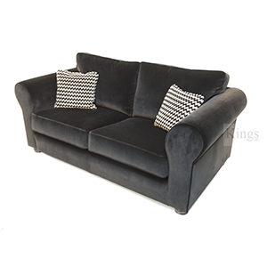 Collins and Hayes Angelo Large and Medium Sofas in Black Velvet2