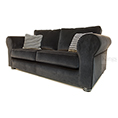 Collins and Hayes Angelo Medium Sofa in Black Velvet