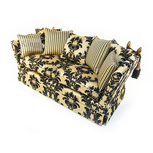 David Gundry Broadway Knole Sofa In Black And Gold