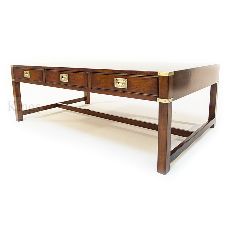 Reh kennedy cherry coffee table in cherry and brass Coffee table cherry