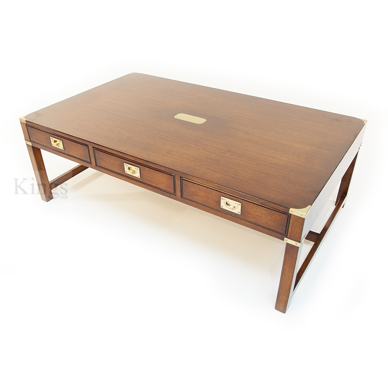 Reh kennedy cherry coffee table in cherry and brass Cherry wood coffee tables