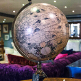 Hondius Globe on a Classic Stand - Kings Interiors