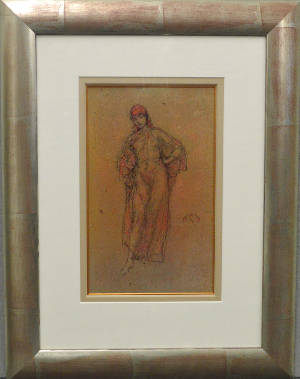 James Abbott Mcneill Whistler - A Study in Red (Framed) 1