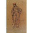 James Abbott Mcneill Whistler - A Study in Red (Framed) - Limited Edition Artworks at Kings Carpets and Interiors