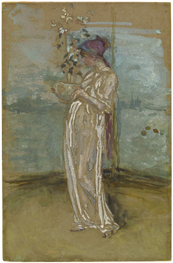 James Abbott Mcneill Whistler Blue And Gold The Rose