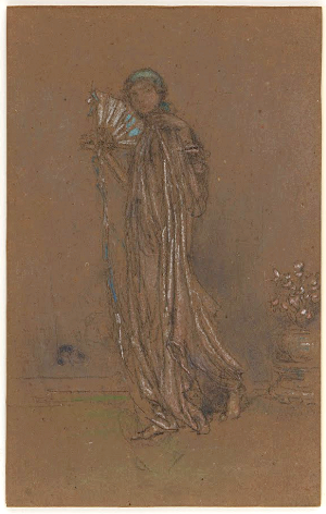 James Abbott Mcneill Whistler - Blue and Rose: The Open Fan (Framed)