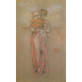 James Abbott Mcneill Whistler - Rose and Red: The Little Pink Cap (Framed) - Limited Edition Artworks at Kings Carpets and Interiors