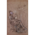 James Abbott Mcneill Whistler - The Purple Cap (Framed) - Limited Edition Artworks at Kings Carpets and Interiors