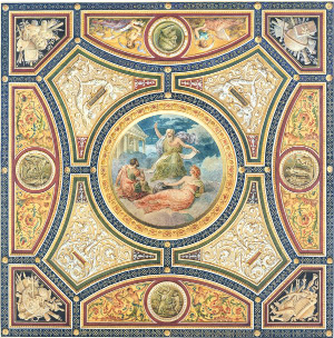 John Gregory Grace - Ceiling Design for Ante-Library, Longleat, Wiltshire