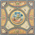 Ceiling Design for Ante-Library, Longleat, Wiltshire - John Gregory Crace Limited Edition Framed Print RIBA Royal Institute of British Architects