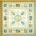 Design for a Decorated Square Ceiling, Carrington House, Whitehall, London - John Gregory Crace