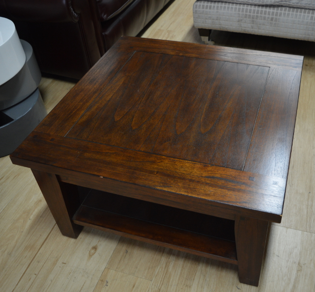 Classic Murano Dark Wood Square Coffee Table 2