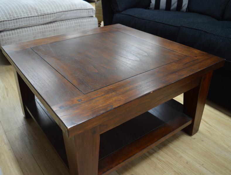 Amazing Square Coffee Table Dark Wood Rascalartsnyc