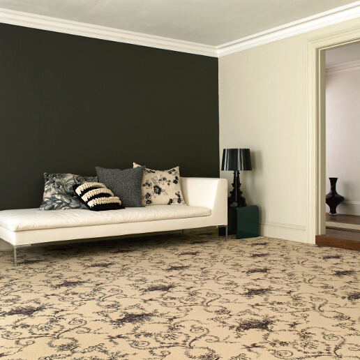 Brintons Classic Florals Collection Toile Empire Black Broadloom Roomset