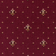Brintons Carpets Regina Burgundy Coronet (31-38498). Soft Wool Blend Patterned Carpet, Medium Pile, Available in 16 Colours - Free Fitting in 30 Mile Radius of Nottingham