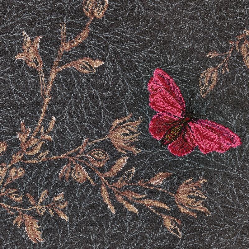 Brintons Timorous Beasties Noir Ruskin Butterfly 8 50155