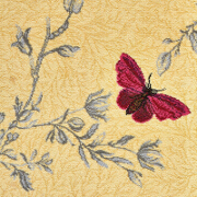 Brintons Timorous Beasties Yellow Ruskin Butterfly - 6/50155 from Kings Interiors - the Ideal Place for Quality Furniture and Flooring Best Price in the UK