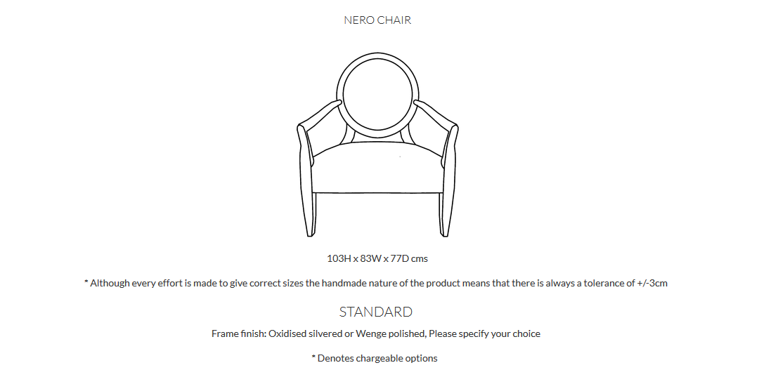 Duresta Nero Chairs Product Info and Dimensions