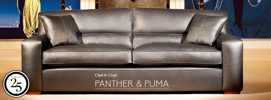 Duresta Panther Leather Sofas