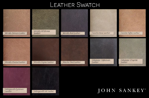 John Sankey Upholstery Leather Fabric Colour Swatch